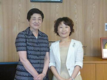 A meeting with Ms. Utsumi, NWEC President